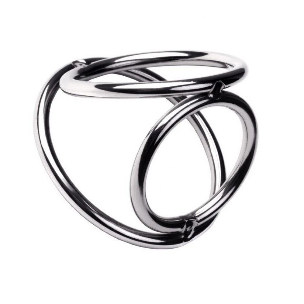 Металлическое тройное кольцо фото